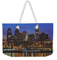 Welcome To Penn's Landing Weekender Tote Bag by Susan Candelario
