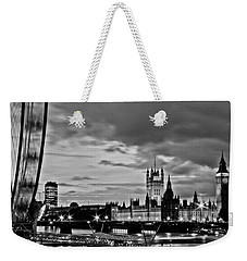 Westminster Black And White Weekender Tote Bag by Dawn OConnor