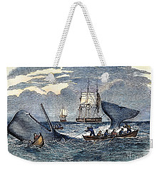 Whaling In South Pacific Weekender Tote Bag by Granger