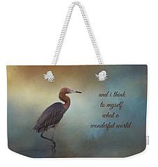 What A Wonderful World Weekender Tote Bag by Kim Hojnacki