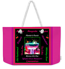 What's Your Pleasure Weekender Tote Bag by Marian Bell