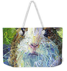 Whimsical Guinea Pig Painting Print Weekender Tote Bag by Svetlana Novikova