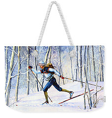Whispering Tracks Weekender Tote Bag by Hanne Lore Koehler