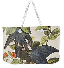White Crowned Pigeon Weekender Tote Bag by John James Audubon