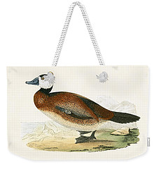 White Headed Duck Weekender Tote Bag by English School