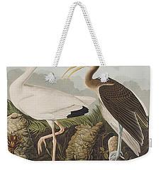 White Ibis Weekender Tote Bag by John James Audubon