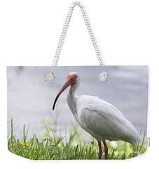 White Ibis  Weekender Tote Bag by Saija  Lehtonen