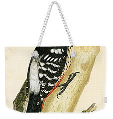 White Rumped Woodpecker Weekender Tote Bag by English School