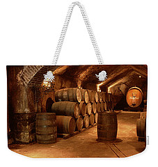 Wine Barrels In A Cellar, Buena Vista Weekender Tote Bag by Panoramic Images