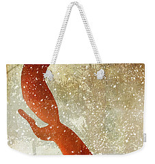 Winter Game Fox Weekender Tote Bag by Mindy Sommers