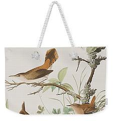 Winter Wren Or Rock Wren Weekender Tote Bag by John James Audubon
