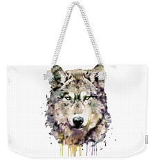 Wolf Head Weekender Tote Bag by Marian Voicu