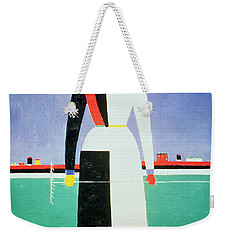 Woman With A Rake Weekender Tote Bag by Kazimir Severinovich Malevich