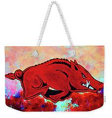 Woo Pig Sooie 3 Weekender Tote Bag by Belinda Nagy
