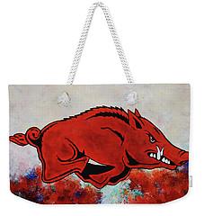 Woo Pig Sooie Weekender Tote Bag by Belinda Nagy