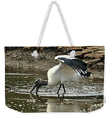 Wood Stork Fishing Weekender Tote Bag by Al Powell Photography USA