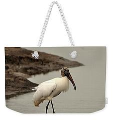 Wood Stork Walking Weekender Tote Bag by Al Powell Photography USA