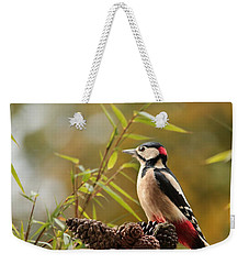 Woodpecker 3 Weekender Tote Bag by Heike Hultsch