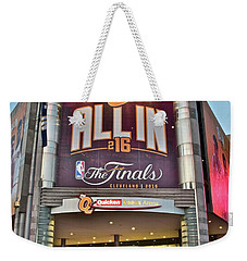 World Champion Cleveland Cavaliers Weekender Tote Bag by Frozen in Time Fine Art Photography