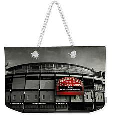 Wrigley Field Weekender Tote Bag by Stephen Stookey
