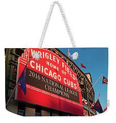 Wrigley Field Marquee Angle Weekender Tote Bag by Steve Gadomski