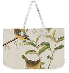Yellow-breasted Warbler Weekender Tote Bag by John James Audubon