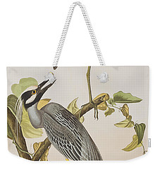 Yellow Crowned Heron Weekender Tote Bag by John James Audubon