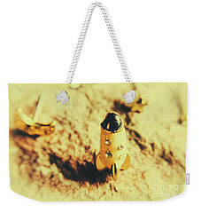 Yellow Rocket On Planetoid Exploration Weekender Tote Bag by Jorgo Photography - Wall Art Gallery