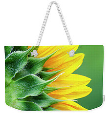 Yellow Sunflower Weekender Tote Bag by Christina Rollo