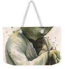 Yoda Portrait Weekender Tote Bag by Olga Shvartsur