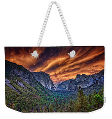 Yosemite Fire Weekender Tote Bag by Rick Berk