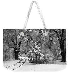 Yosemite Valley Winter Trail Weekender Tote Bag by Underwood Archives