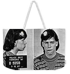 Young Steven Tyler Mug Shot 1963 Pencil Photograph Black And White Weekender Tote Bag by Tony Rubino