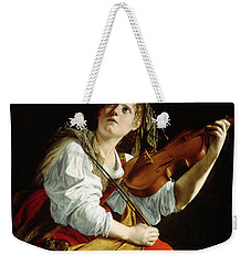 Young Woman With A Violin Weekender Tote Bag by Orazio Gentileschi