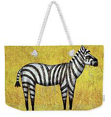 Zebra Weekender Tote Bag by Kelly Jade King