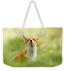 Zen Fox Series - Zen Fox Does It Agian Weekender Tote Bag by Roeselien Raimond