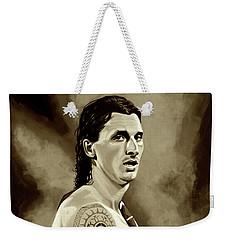 Zlatan Ibrahimovic Sepia Weekender Tote Bag by Paul Meijering