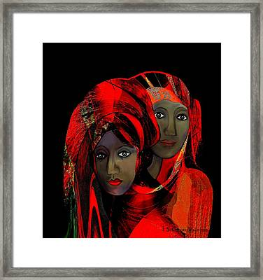 000 - Colour Of Passion Framed Print by Irmgard Schoendorf Welch