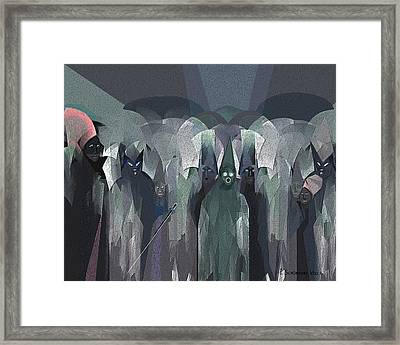 001 - Nightwalkers Dark ... Framed Print by Irmgard Schoendorf Welch