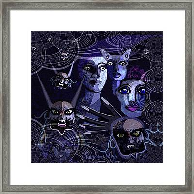 060 -  Paranoia Blues ... Framed Print by Irmgard Schoendorf Welch