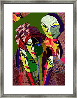 107 -  Cubic Framed Print by Irmgard Schoendorf Welch