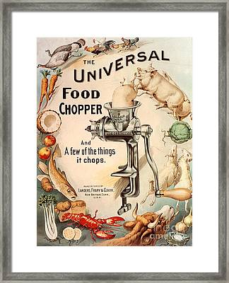 1899 1890s Usa Food Choppers Mincers Framed Print by The Advertising Archives