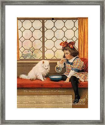 1910s Usa Dogs Prudential Insurance Framed Print by The Advertising Archives