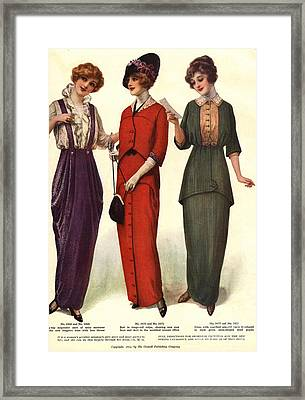 1910s Usa Womens Framed Print by The Advertising Archives