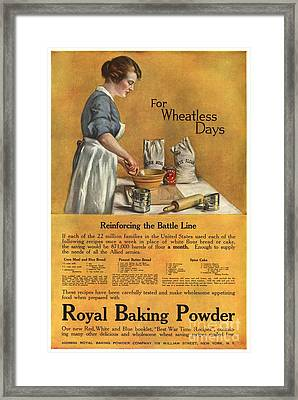 1918 1910s Usa Cooking Royal Baking Framed Print by The Advertising Archives