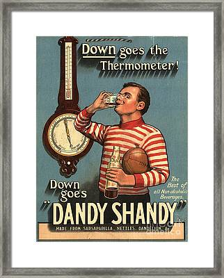 1920s Uk Dandy Shandy Sarsaparilla Framed Print by The Advertising Archives
