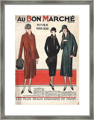 1924 1920s France Catalogues Au Bon Framed Print by The Advertising Archives