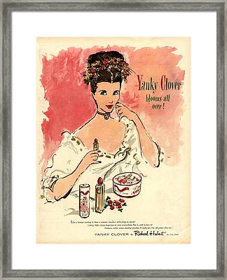 1930s Usa Yanky Clover Make-up Makeup Framed Print by The Advertising Archives