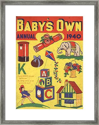 1940 1940s Uk Babies Own Annuals S Framed Print by The Advertising Archives