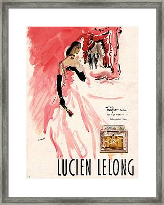 1940s Usa Lucien Lelong   Theatre Framed Print by The Advertising Archives